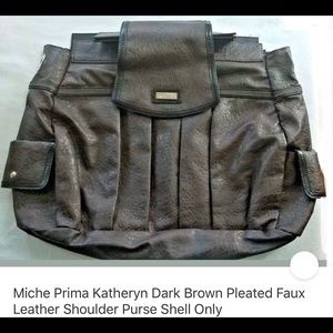 Miche Katheryn Brown Leatherlook Shell